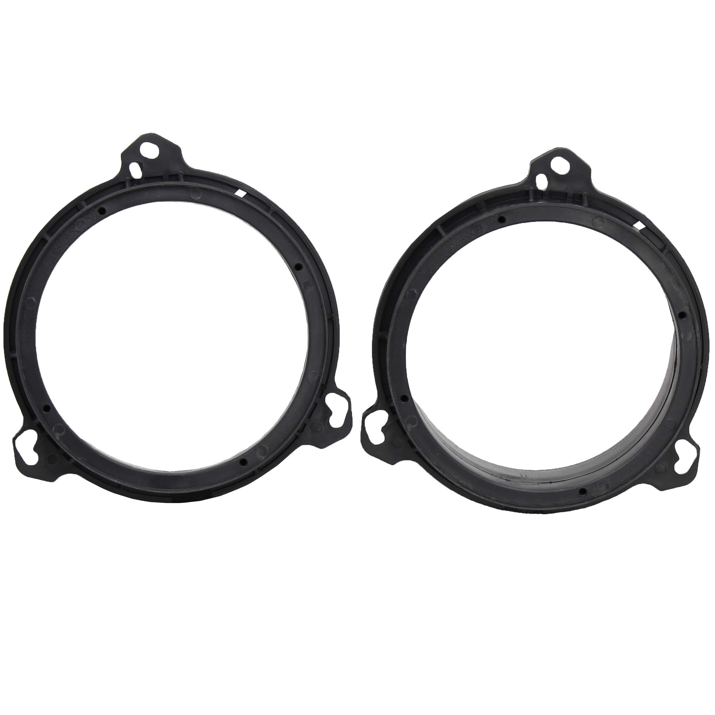 6.5 inch Speaker Adapter Spacers Bracket+Speaker Wire Harness for Nissan 00-2019