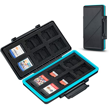 (NOT FIT SD Card) 36 Slots Switch Game Card Case for 12 Nintendo Games and 24 Micro SD Cards,Switch Card Holder Storage for Nintendo Switch or PS Vita,Water-Resistant Anti-Shock Game Card Box