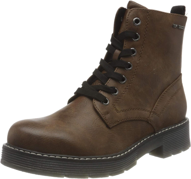 TOM TAILOR Women's 9093508 Mid Calf Boot, Coffee, 7.5 US