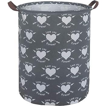 Love Arrows ESSME Laundry Hamper,Collapsible Canvas Waterproof Storage Bin for Kids Nursery Hamper,Gift Baskets,Home Organizer
