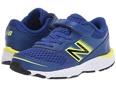 New Balance Kids 680v6 (Infant/Toddler) (Marine Blue/Lemon Slush) Boys Shoes