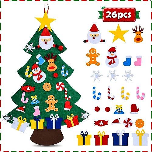 6 x Christmas FELT 3D Stickers Art Craft Decoration Kids Fun Xmas Gift Filler