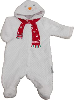 Kiddiewinks with Tags. Baby Unisex Christmas Snowman Soft Fleece All in one Clothes