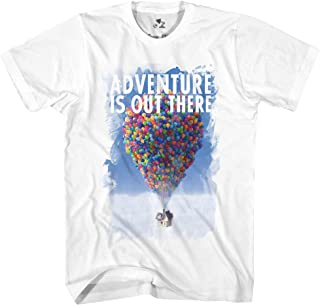 Disney Pixar Up Adventure is Out There Classic Retro Vintage Movie Disneyland World Tee Funny Humor Men's Graphic T-Shirt