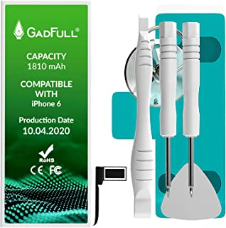 GadFull Batería de reemplazo para iPhone 6   2020 Fecha de producción   Incluye Kit de Herramientas Profesional de reparación Manual   Funciona con Todos los APN Originales
