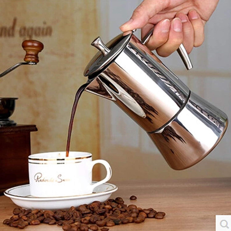 Koffiezetapparaat Inductiekookplaat 300ML 304 Roestvrijstalen Espressomachine Koffiepot Moka Pot Italiaans Koffiezetapparaat,200ml 300ML
