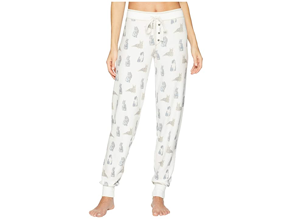 P.J. Salvage Raining Cat and Dogs Joggers (Natural) Women