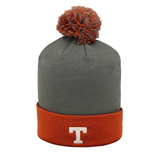 c803db00af3 Texas Longhorns NCAA Pom Cuffed Knit Two Tone Beanie Stocking Hat Cap 048352
