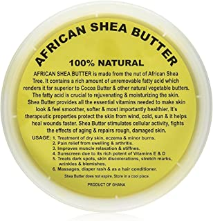 Raw Unrefined African Shea Butter Selections (8 Oz, 16 Oz, 32 Oz)- Grade AAA Premium Shea Butter From Ghana - Use on Acne,...