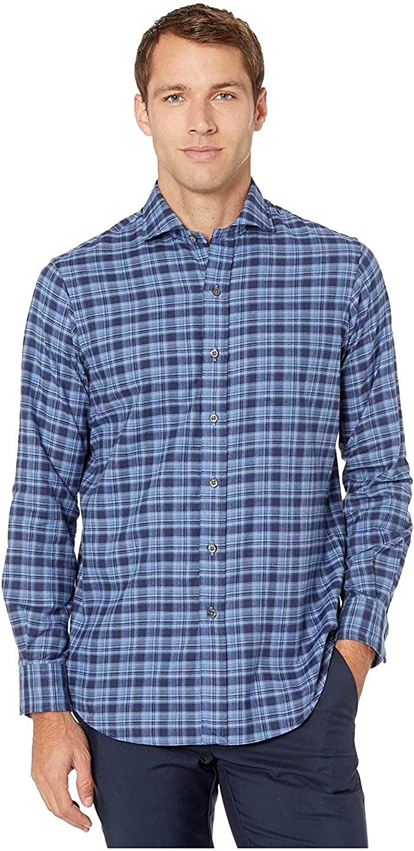 Polo Ralph Lauren Men Classic Fit Long Sleeve Plaid Twill Shirt L Large Blue