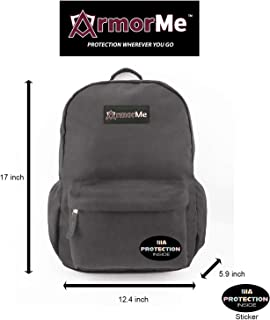 ArmorMe - Backpack with single or double panel protection (Grey, Single Panel).