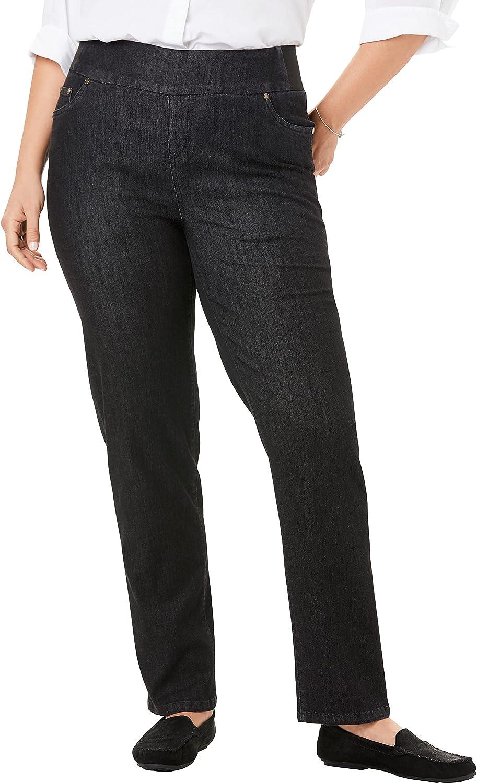 Woman Within Women's Plus Size Petite Straight Leg Smooth Waist Jean