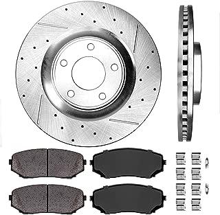 Callahan CDS02003 FRONT 320 mm Premium D/S 5 Lug [2] Brake Disc Rotors + [4] Ceramic Brake Pads + Hardware