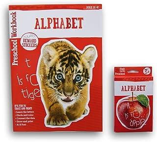 Alphabet Discovery Workbook with Reward Stickers and Flash Card Bundle - Pre K-K
