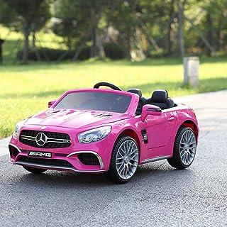 TOBBI Licensed Mercedes Benz 12V Kids Ride On Car with Remote Control MP3 Pink