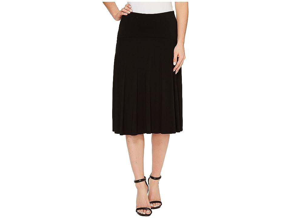 Three Dots Wrap Skirt (Black) Women