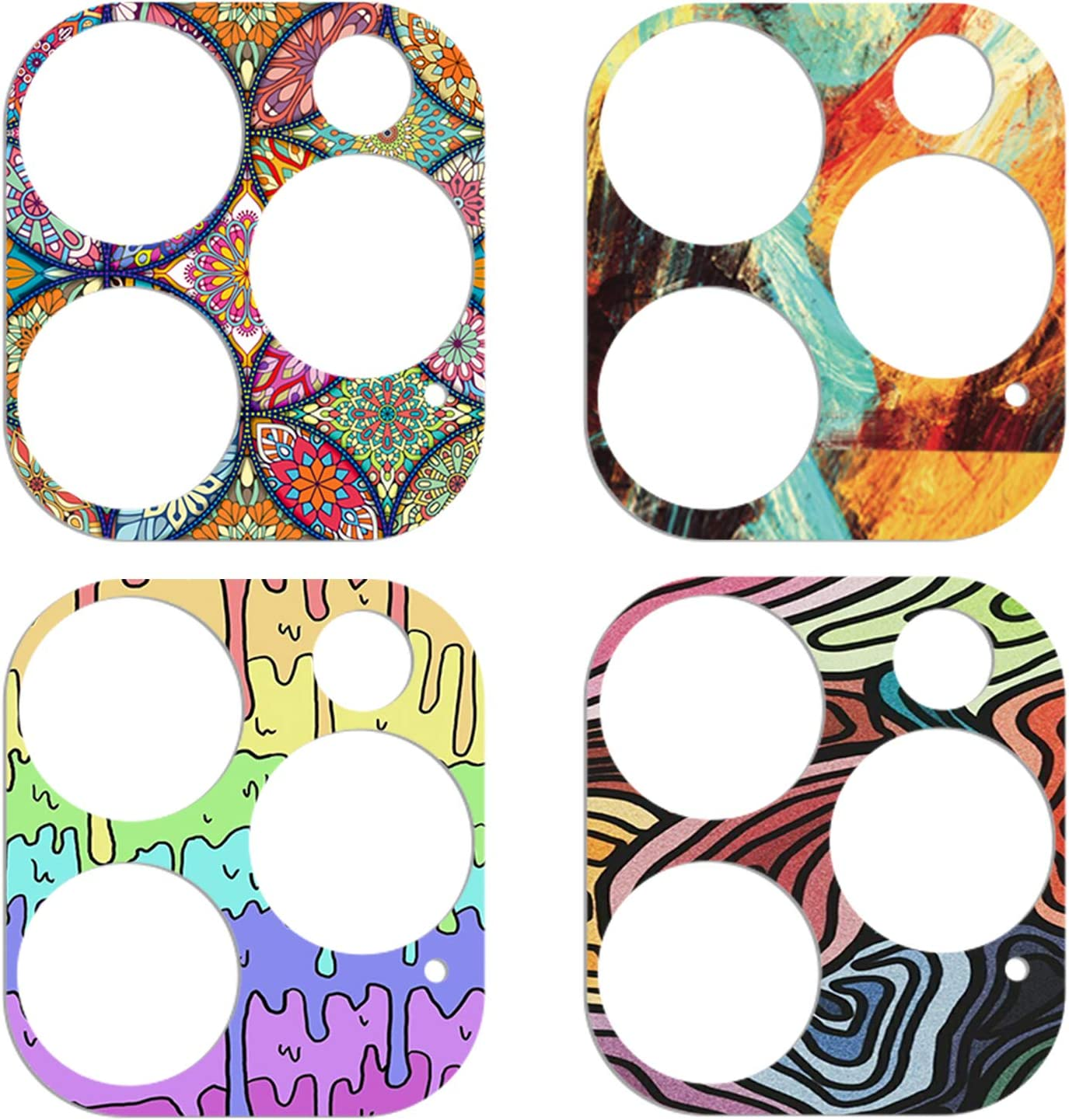 colorful 4PCS YDY Camera Lens Protector for iPhone 12 Pro Camera Cover Sticker Clear Tempered Glass Soft Camera Protector Anti-Scratch Lens Protector