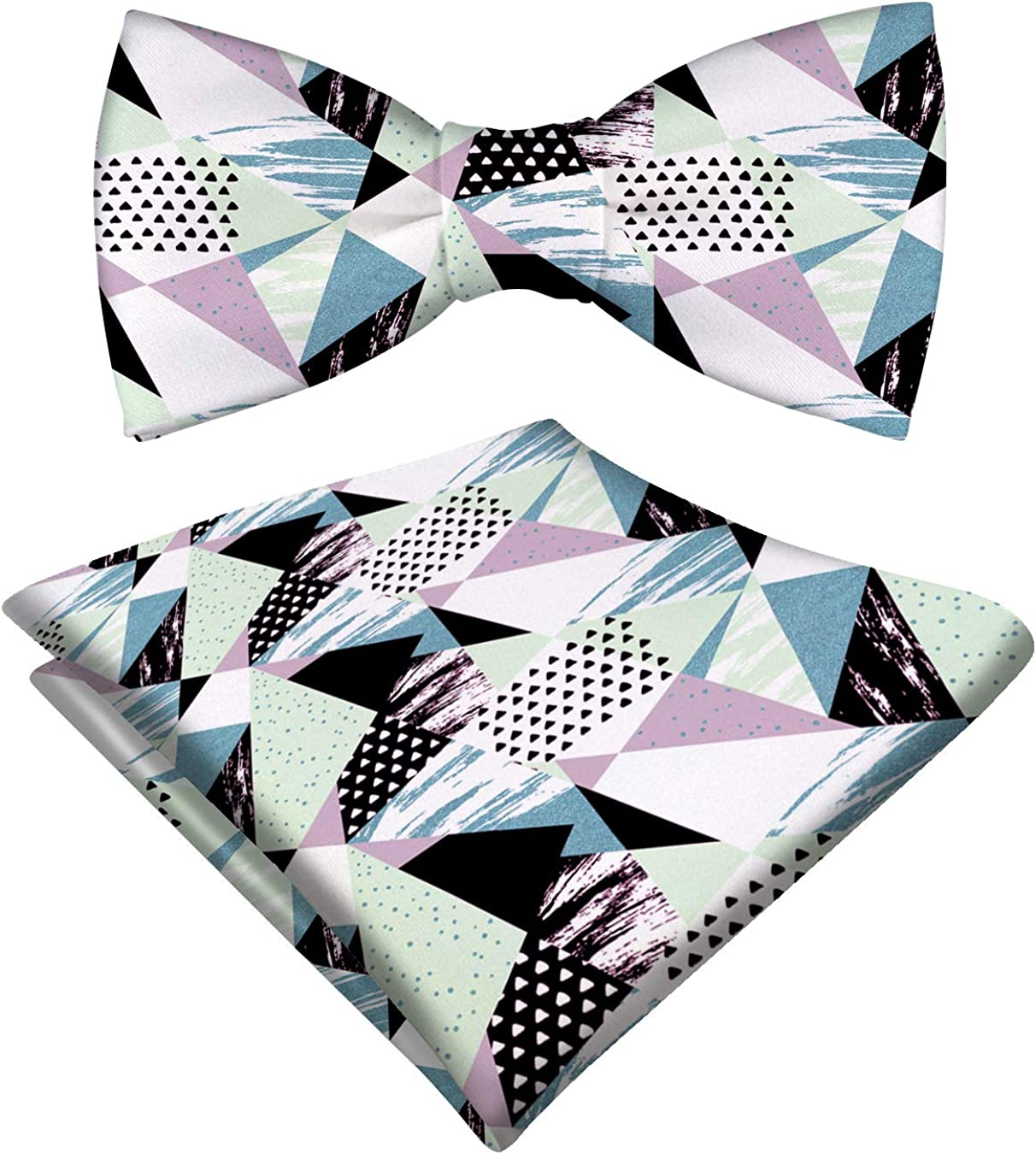 RADANYA Men'S Classic Bow Tie With Matching Pocket Square Set