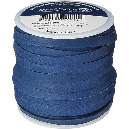 3//16 x 50 Deerskin Lace Dark Turquoise