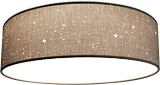 Navaris Lámpara LED Redonda con Efecto de luz de Estrellas - Lámpara de Techo con plafón para salón Dormitorio - Clase energética A+ - Gris Claro