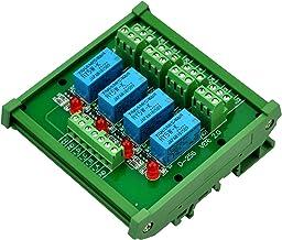 ELECTRONICS-SALON DIN montaje en riel de 4 DPDT relé de módulo de interfaz, DC5V versión.