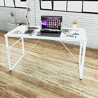 UnfadeMemory Mesa de Escritorio Moderno con Superficie de Vidrio TempladoMesa de OficinaMesa de OrdenadorDecoración de ...