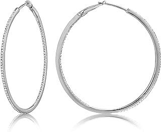 Best white gold and diamond hoop earrings Reviews