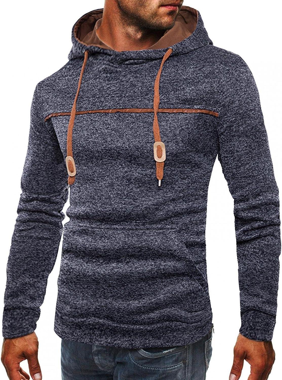 Mens Very popular Hoodies Pullover Crewneck Slim Long Sweatshirts Sleeve Hood Outlet SALE