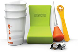 Zoku Quick Pop Tools, 8-Piece Set for Creating Unique Popsicle Designs, Step by Step Instructions