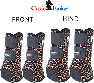 SMALL CLASSIC EQUINE LEGACY2 HORSE FRONT HIND SPORTS BOOTS 4 PACK CHEETAH PRINT