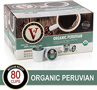 Organic Peruvian for K-Cup Keurig 2.0 Brewers, 80 Count Victor Allen's Coffee Medium Roast Single Serve Coffee Pods