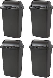 Best sterilite 13 gallon roll top trash can black Reviews