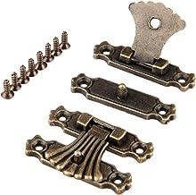 Nologo SSB-JIAOLIAN, 2ST 37 * 27mm antieke brons doos haspe sluiting sieraden houten doos doos doos Toggle Haspe Latch Vin...