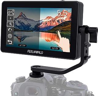 FEELWORLD F6 Plus Cámara réflex digital de 5.5 pulgadas Monitor de pantalla táctil de campo con 3D Lut Small Full HD 1920x...