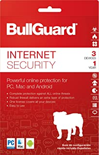 BullGuard Internet Security 2018 Download Key Card, 1 Year (3-Users)
