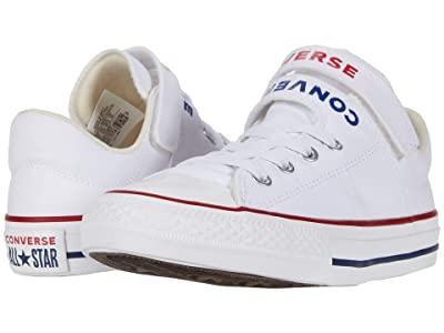 Converse Kids Chuck Taylor(r) All Star(r) Double Strap (Little Kid/Big Kid) (White/University Red/Rush Blue) Kid