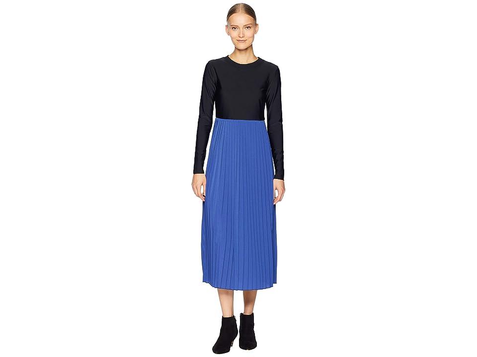 Sportmax Sospiro Long Sleeve Dress (Cornflower Blue) Women