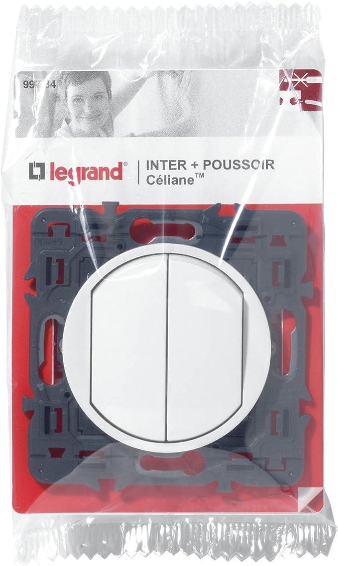 Graphite 230 V Legrand 099531 C/éliane Poussoir simple