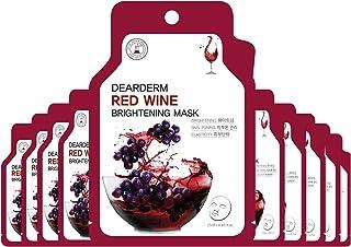 Dearderm Red Wine Bright Ampoule Mask (10pcs)