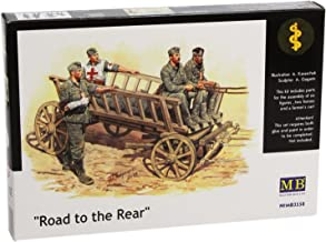 Master Box Road to The Rear (5 German Soldiers, 2 Horses and Wagon) Figure Model Building Kits (1:35 Scale)