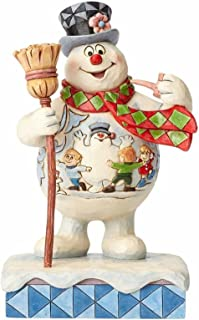 Enesco Jim Shore Frosty the Snowman with Scene on Belly Happy Birthday Figurine 4058187