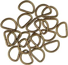 30 mm Whobabe 10 anillas en D para asas de bolso o bolso plata