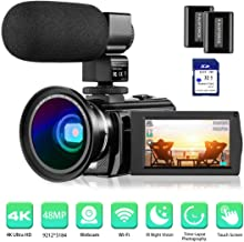 4K Camcorder Video Camera Rosdeca Ultra HD 48.0MP WiFi Digital Camera IR Night Vision..