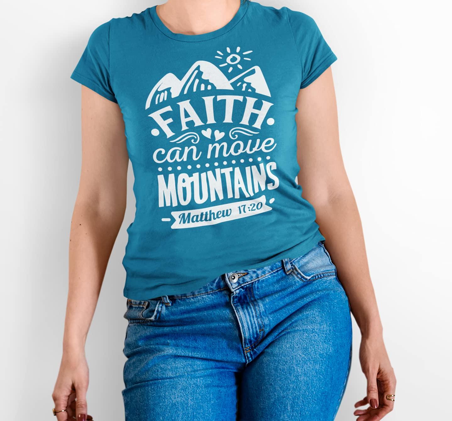 Faith Can Move Mountains Christian T-Shirt Ranking Choice TOP17 T-Shi