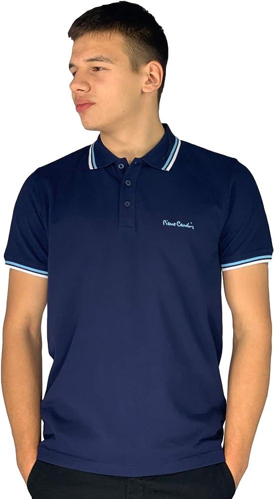 Pierre cardin, polo da uomo, maglietta maniche corte, 100% cotone FA028001B