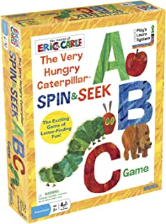 University Games Very Hungry Caterpillar Spin and Collect ABC Game, Multi-Colour, 5.08 x 20.96 x 27.31 cm