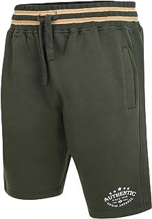 Kam Jeanswear KBS 345 Denim Authentic Jog Shorts Joggers Casual Contrast Waistband with Drawstring and Print on Leg Khaki ...