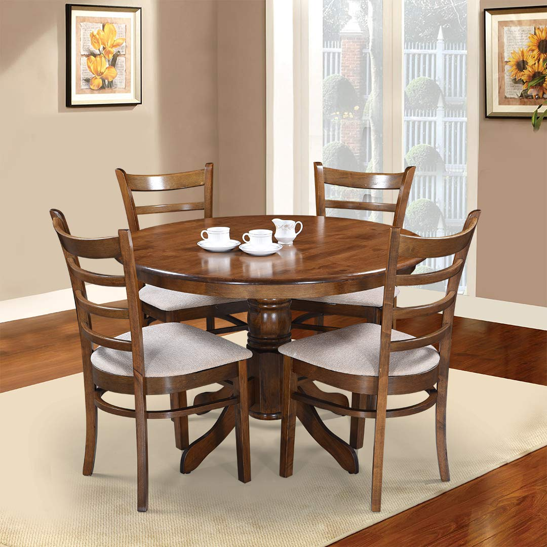 Royaloak Coco Dining Table Set with 9 Chairs Walnut
