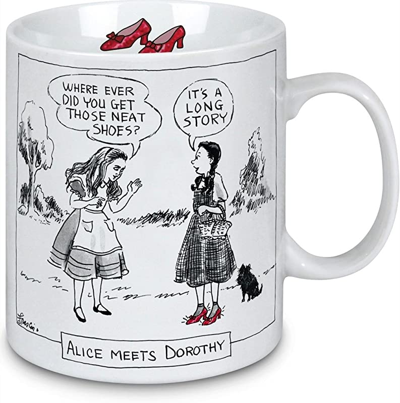 Porcelain Mug New Yorker Cartoon Alice In Wonderland