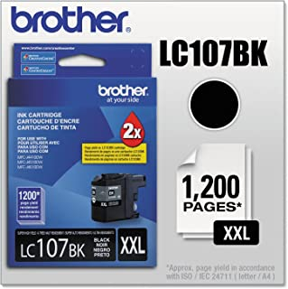 Brother LC107 Innobella Super High-Yield Ink Cartridge, Black (1200 Page Yield)